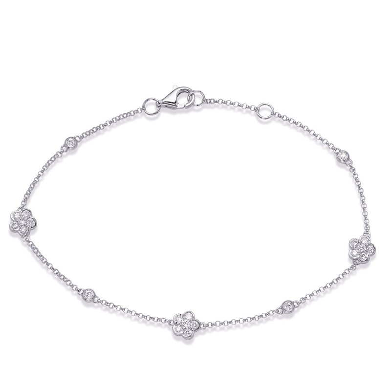 S. Kashi  & Sons White Gold Diamond By The Yard Bracelet