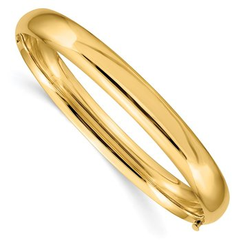 14k 5/16 Oversize High Polished Hinged Bangle Bracelet