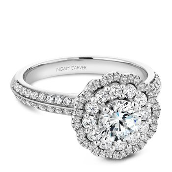 Noam Carver Floral Engagement Ring B144-16A