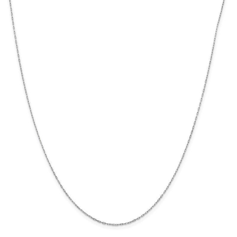 Leslie's Leslie's 14K White Gold .95 mm Long Open Cable Link Chain