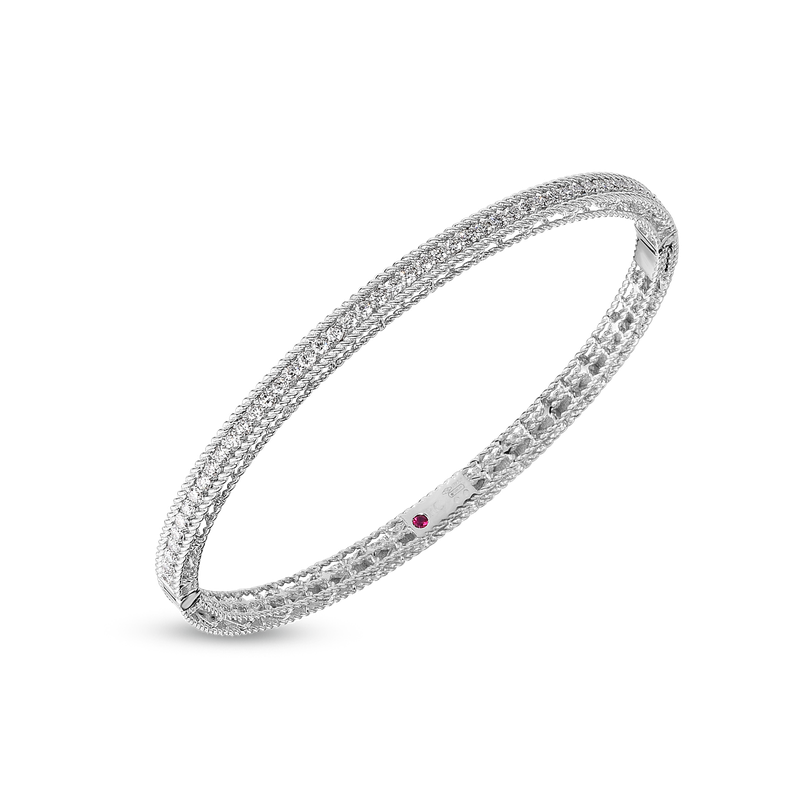 Roberto Coin Princess Oval Bangle &Ndash; 18K White Gold