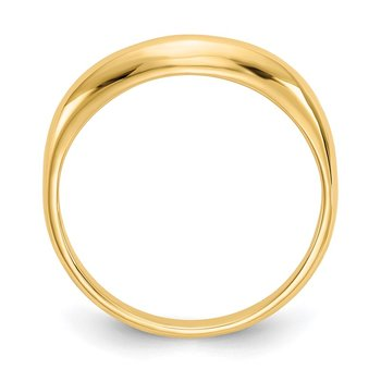 14k Polished Stackable Wave Ring