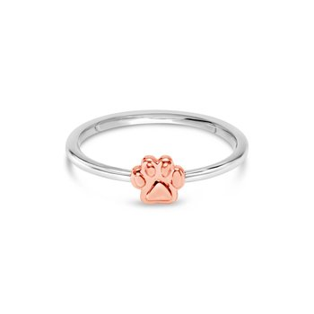 Rose Classic Paw Ring