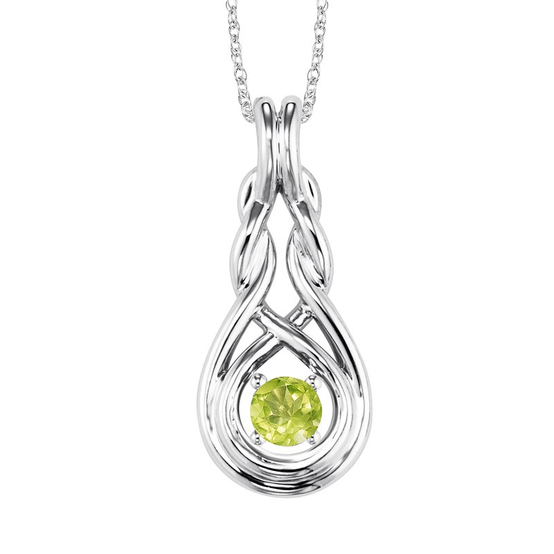 Mixables Silver Peridot Pendant ( Available in All Birthstone )