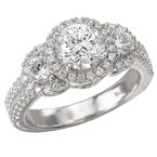 LaVie 3-Stone Semi-Mount Diamond Ring