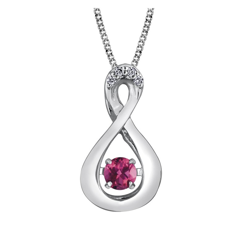 Diamond Days Pulse™ Pink Topaz Pendant