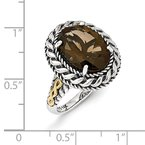 Shey Couture Sterling Silver w/14k Antiqued Smoky Quartz Ring