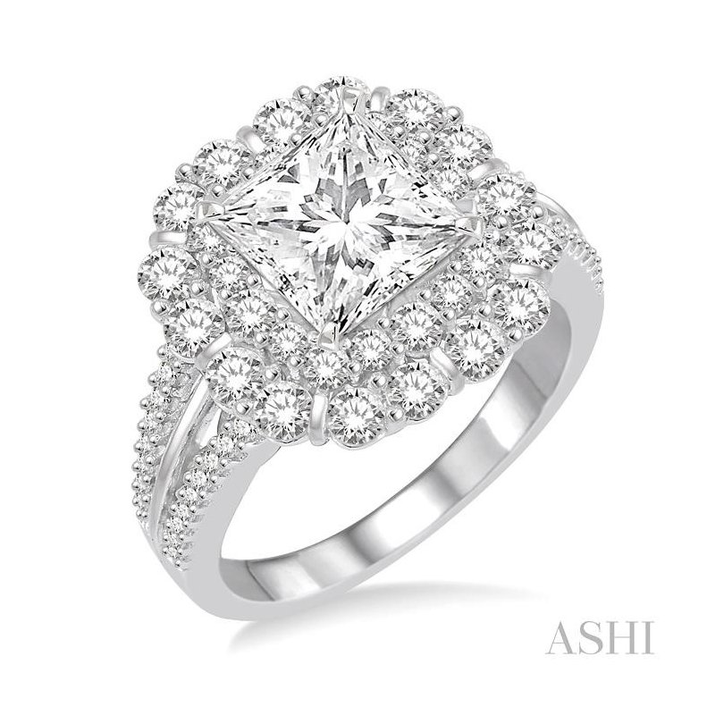 Gemstone Collection semi-mount diamond engagement ring