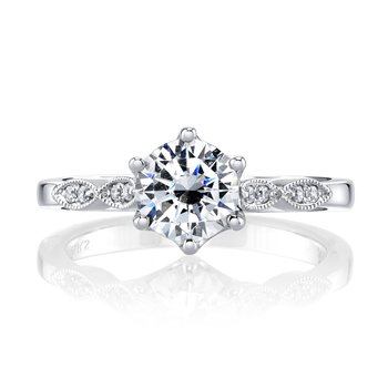 MARS 26698 Diamond Engagement Ring 0.10 Ctw.