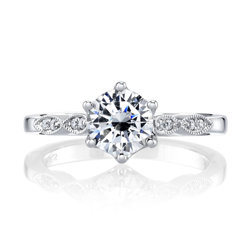 MARS Jewelry MARS 26698 Diamond Engagement Ring 0.10 Ctw.