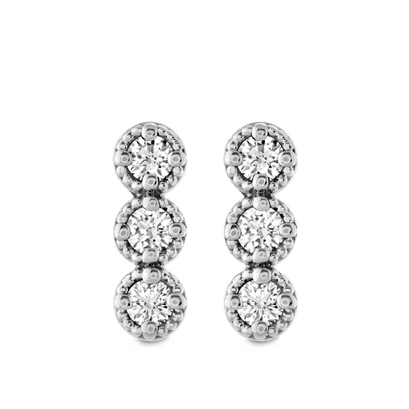 Hearts on Fire 0.19 ctw. Liliana Milgrain Diamond Bar Earrings