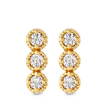 0.19 ctw. Liliana Milgrain Diamond Bar Earrings
