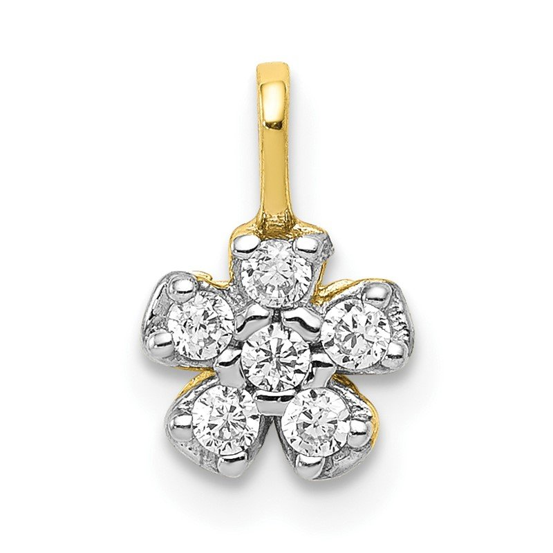 Lester Martin Online Collection 10k Small CZ Flower Charm