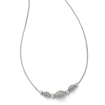 Leslies Sterling Silver w/ 2 ext. Beaded Necklace