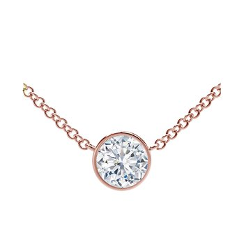The Forevermark Tribute™ Collection Round Diamond Necklace
