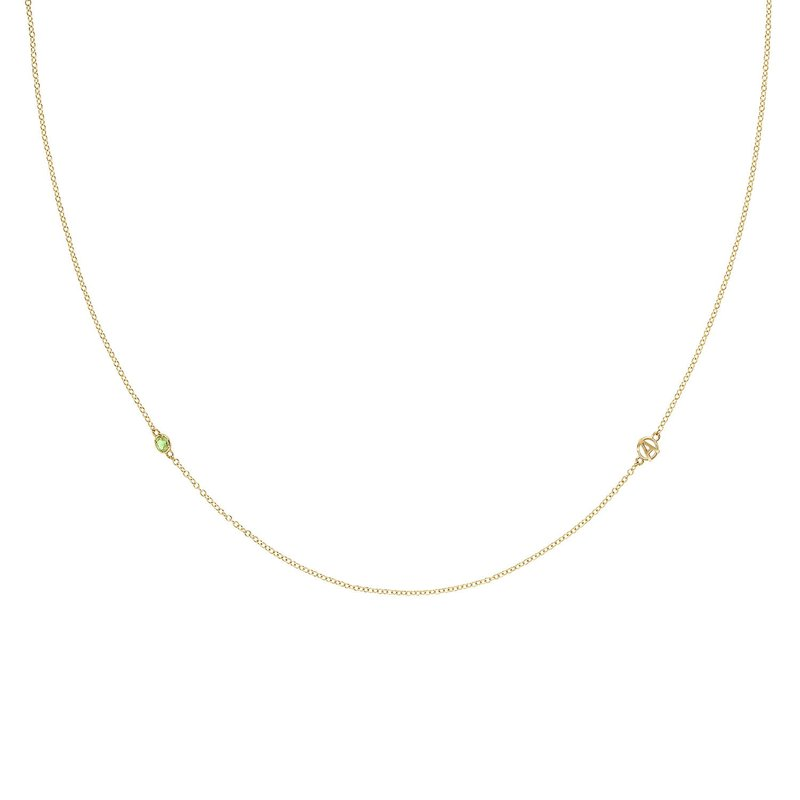 Tacori Fashion The Gemstone & Monogram Necklace w/ Peridot