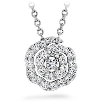 0.27 ctw. Lorelei Diamond Floral Pendant - Small