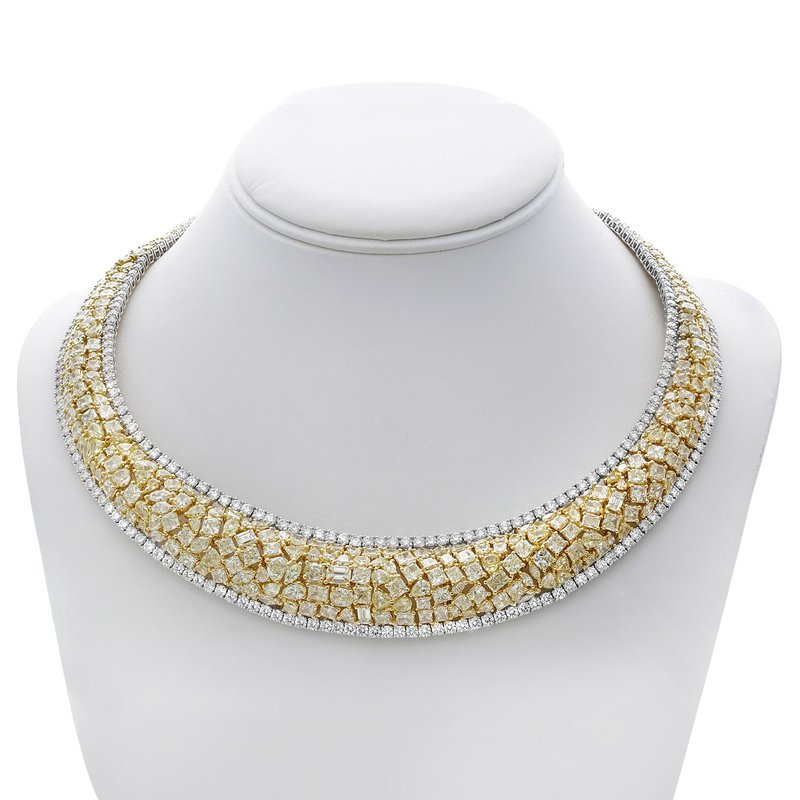 Roman & Jules Yellow Diamond Cluster Necklace
