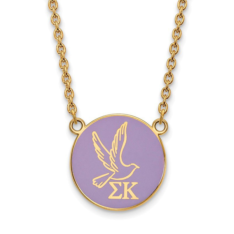 Greek Life Gold-Plated Sterling Silver Sigma Kappa Greek Life Necklace