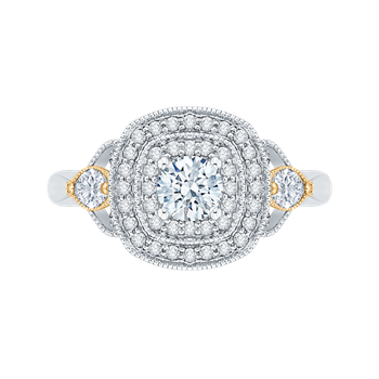 14 k Two-Tone Gold Promezza Engagement Ring