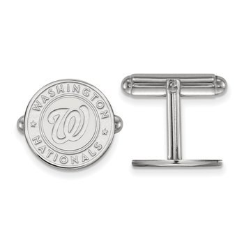 Sterling Silver Washington Nationals MLB Cuff Links