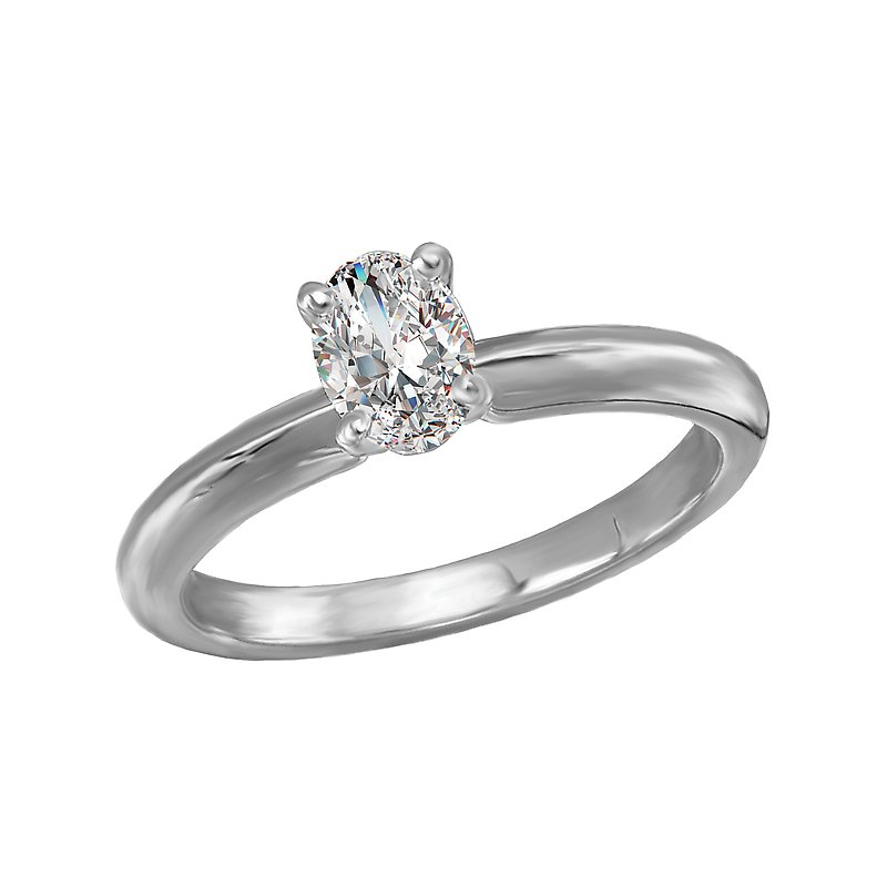 LaVie Solitaire Semi-Mount Diamond Engagement Ring