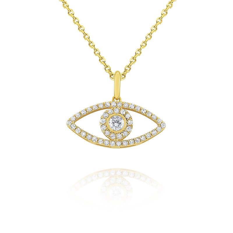 KC Designs 14k Gold and Diamond Evil Eye Necklace