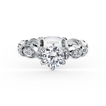 Diamond Designer Bar Solitare Engagement Ring