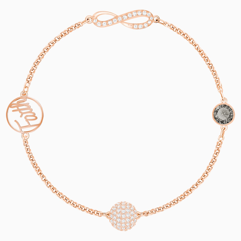 Swarovski Swarovski Remix Collection Infinity Strand, Black, Rose-gold tone plated