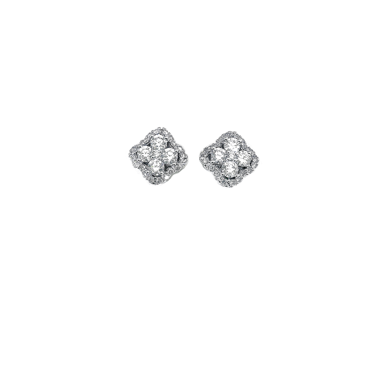 Roberto Coin 18Kt Gold Diamond Flower Cluster Earrings