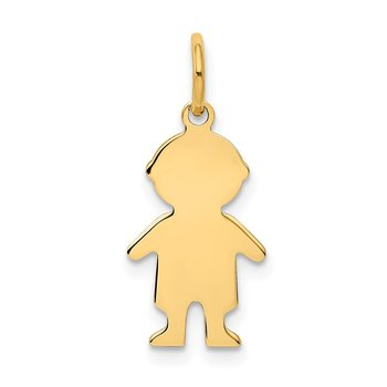 14k .011 Depth Engravable Boy Charm