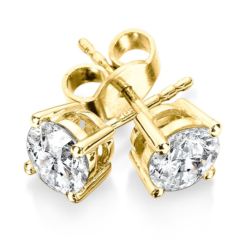 SDC Creations Four Prong Diamond Studs in 14k Yellow Gold (1/4ct. tw.)