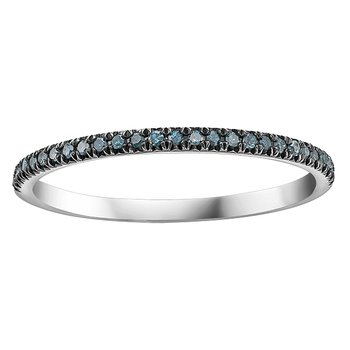 Enhanced Col.blue Diamond Ladies Ring