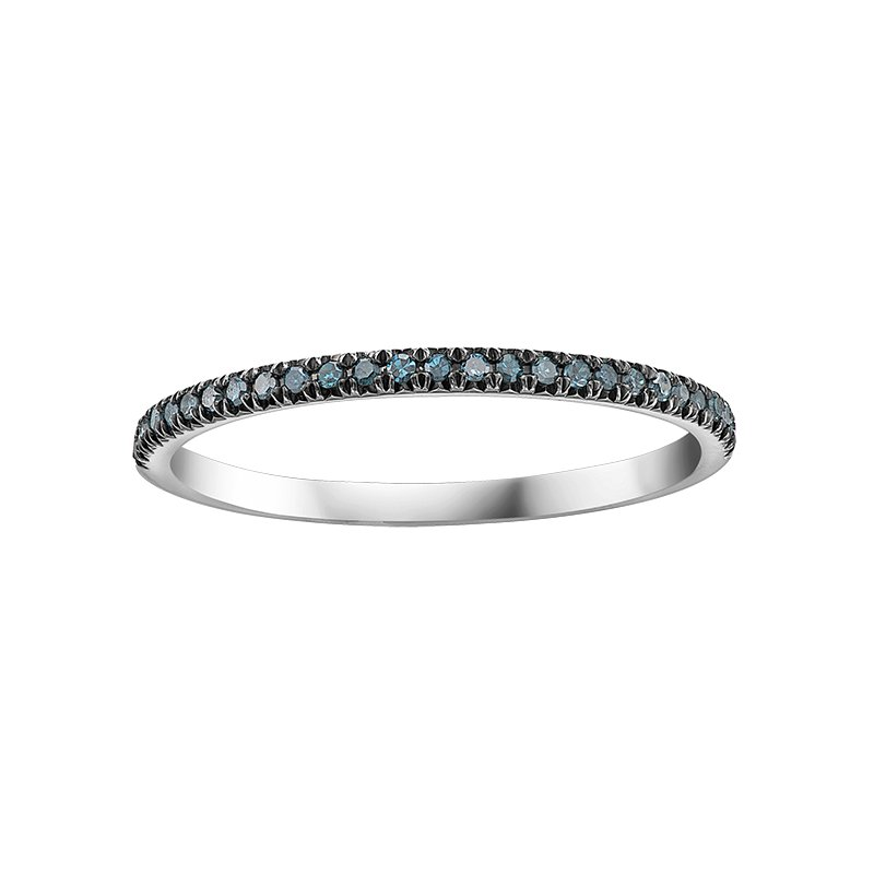 Timeless Beauty Enhanced Col.blue Diamond Ladies Ring