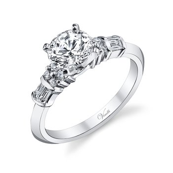 14K W RING 8RD 0.13CT 4BG 0.18CT