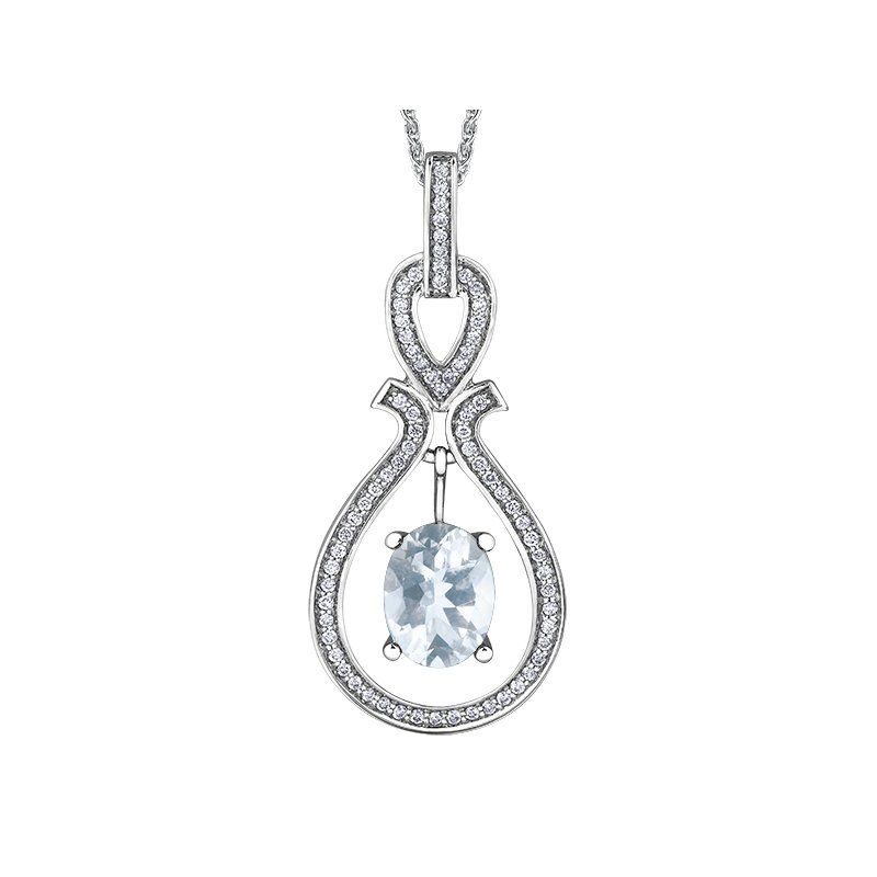 Timeless Beauty Aquamarine Pendant