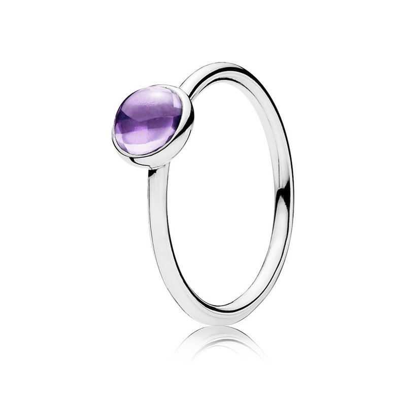 5c534594c David Arlen Jewelers: PANDORA Poetic Droplet Ring, Purple CZ
