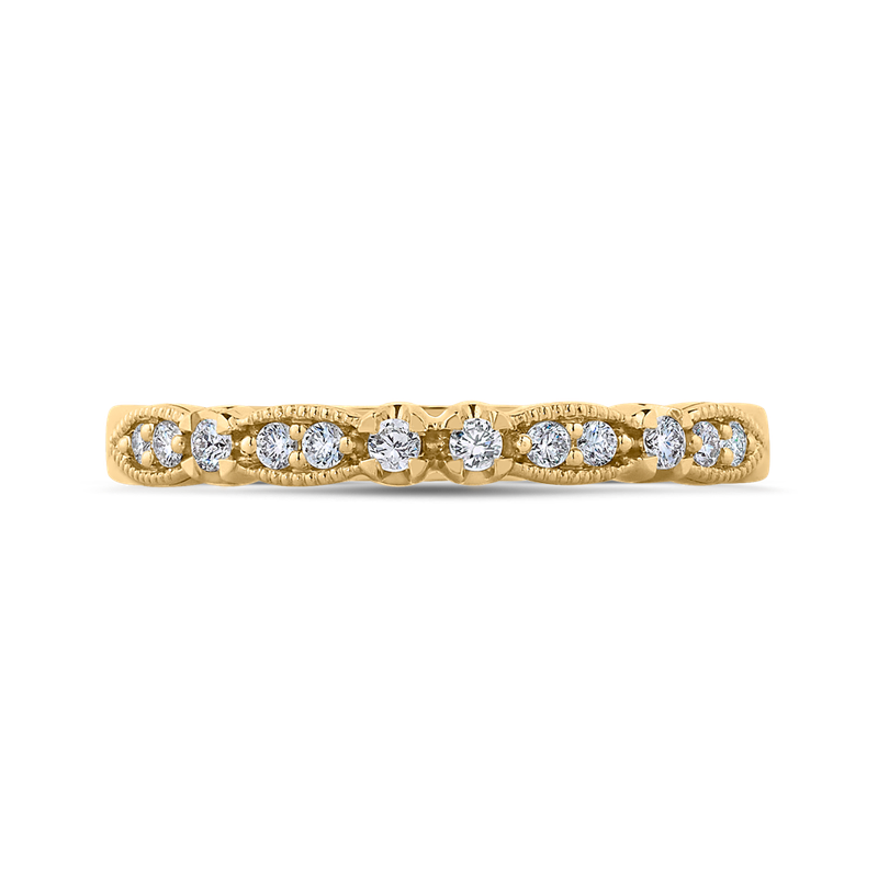 Carizza 14K Yellow Gold Round Diamond Wedding Band