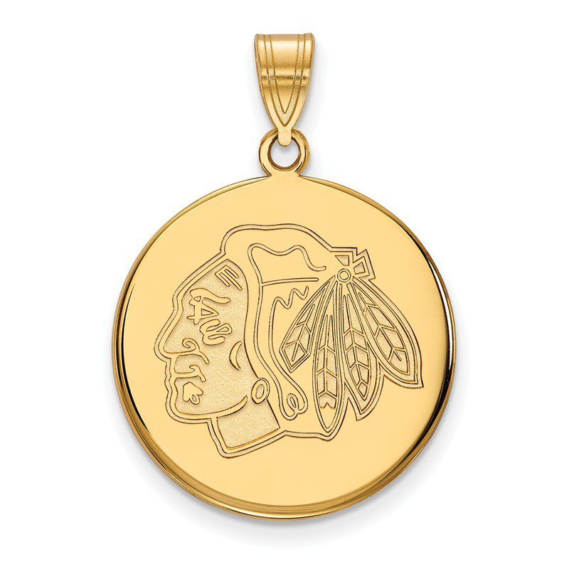NHL Gold Chicago Blackhawks NHL Pendant