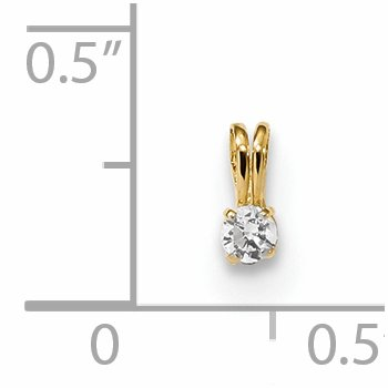 14k Childrens Tiny CZ Pendant