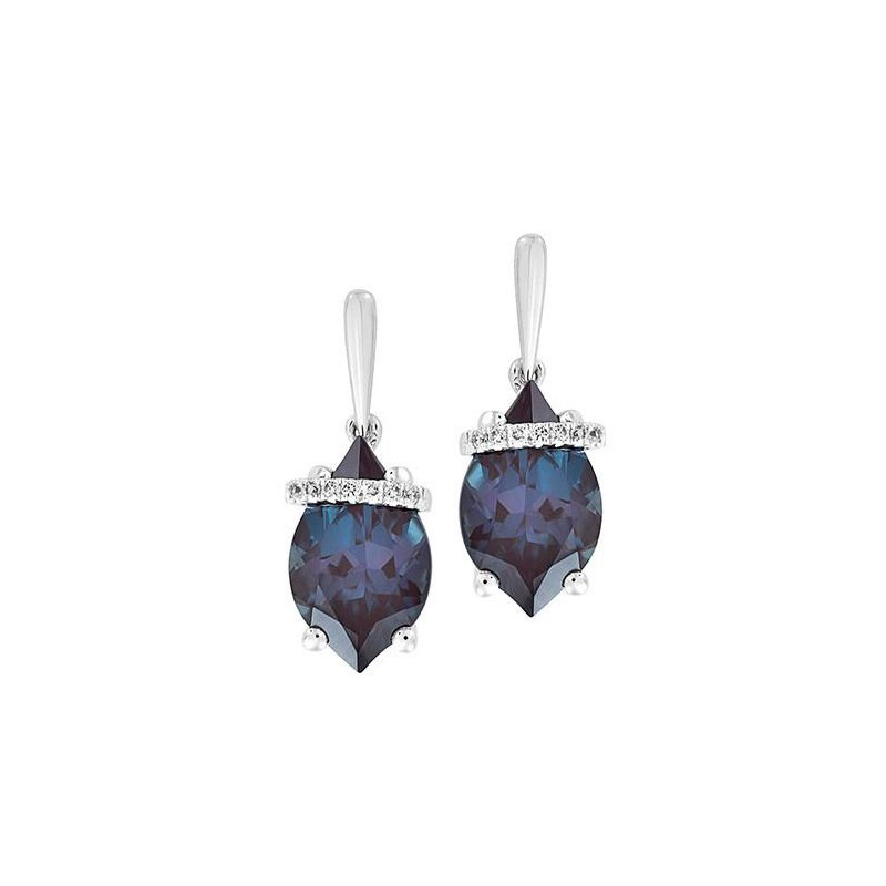 Chatham Alexandrite Earrings-CE4290WAL