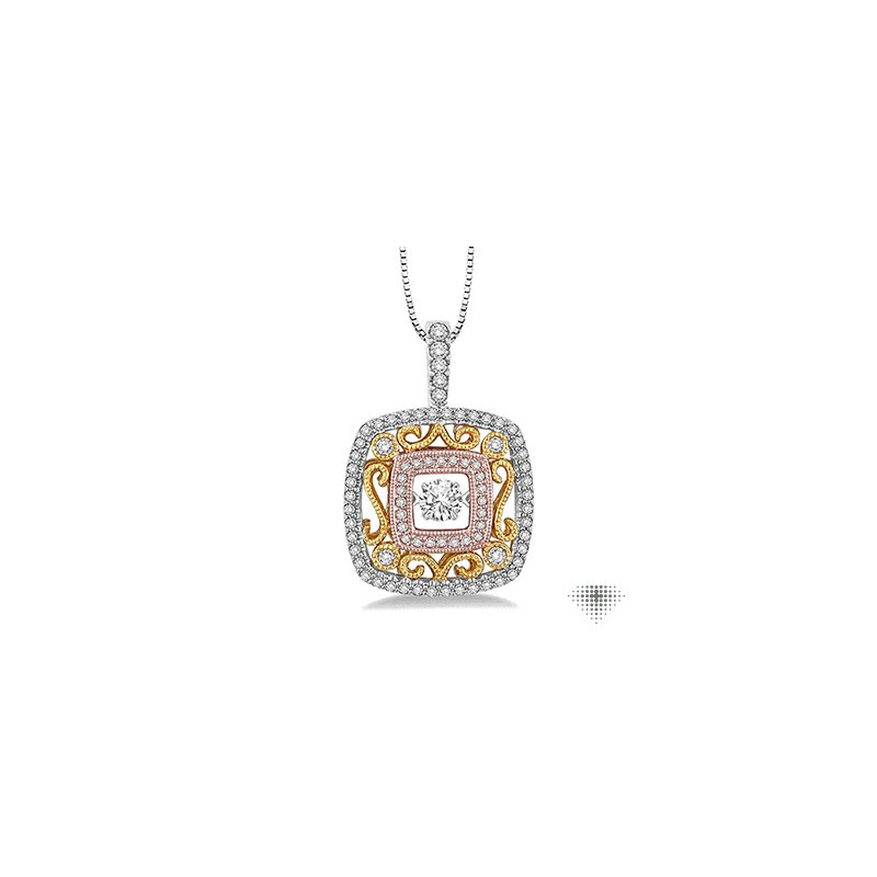 Emotion Diamonds Square Shape Emotion Diamond Pendant