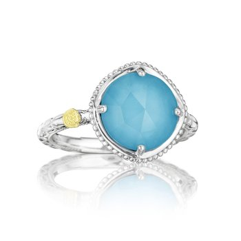 Bold Simply Gem Ring featuring Neo-Turquoise