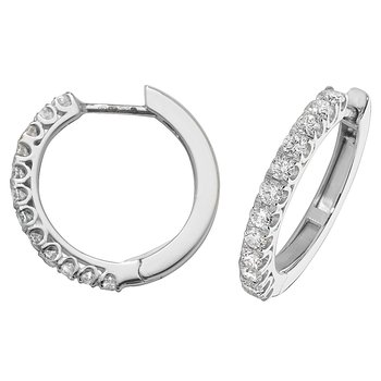 Diamond Hoop Earrings 18mm