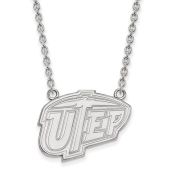 Sterling Silver University of Texas at El Paso NCAA Necklace
