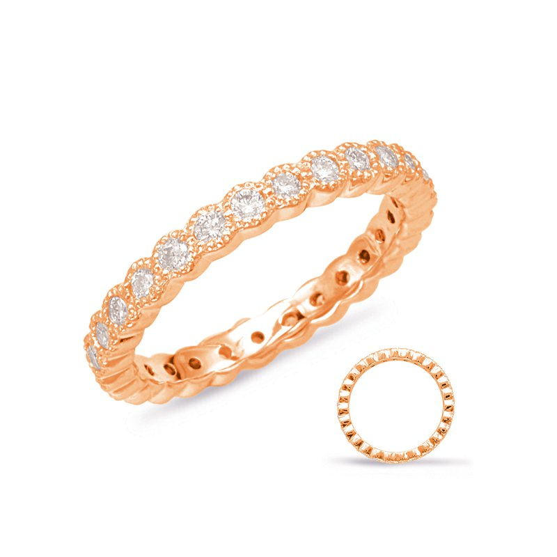 S. Kashi & Sons Bridal Rose Gold Stackable Eternity Band