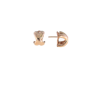 18KT GOLD SMALL CROSSOVER 'X' EARRING