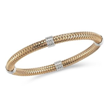 18KT GOLD 4 STATION FLEXIBLE BANGLE