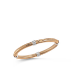 Roberto Coin 18KT GOLD 4 STATION FLEXIBLE BANGLE