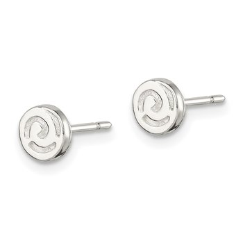 Sterling Silver Swirl Post Earrings